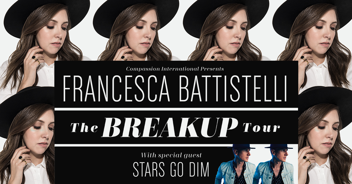 The Breakup Tour with Francesca Battistelli – Hales Corners, WI logo