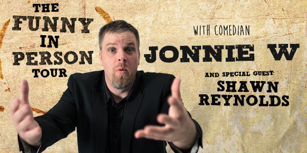The Funny in Person Tour with Jonnie W – Baltimore, MD logo