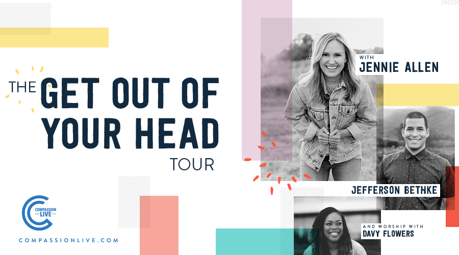 The Get Out of Your Head Tour with Jennie Allen, Jefferson Bethke, and Worship with Davy Flowers – Knoxville, TN logo