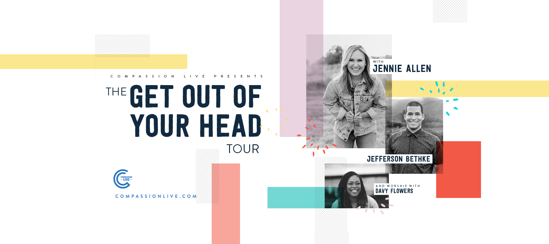 The Get Out of Your Head Tour with Jennie Allen, Jefferson Bethke, and Worship with Davy Flowers – Jonesboro, AR logo
