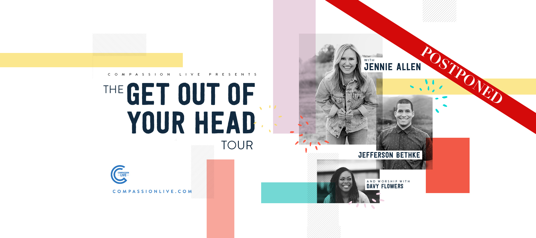 The Get Out of Your Head Tour with Jennie Allen, Jefferson Bethke, and Worship with Davy Flowers logo