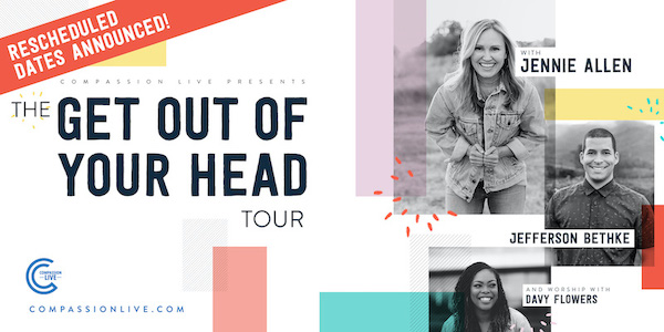 The Get Out of Your Head Tour with Jennie Allen, Jefferson Bethke, and Worship with Davy Flowers – Rochester, NY logo