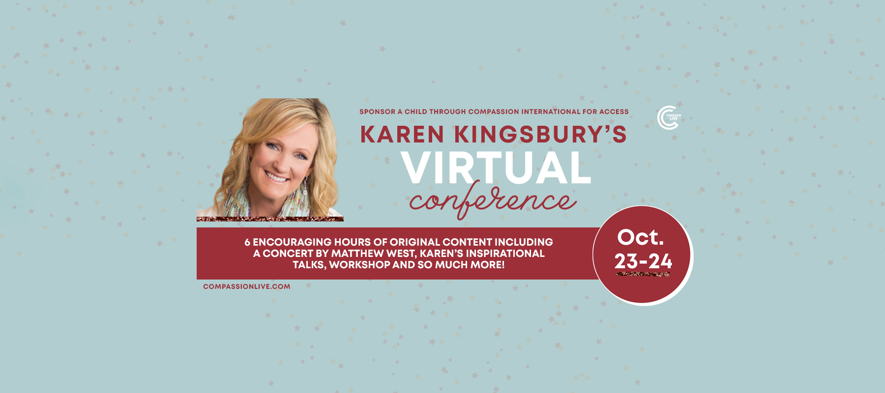 Karen Kingsbury's Virtual Conference logo