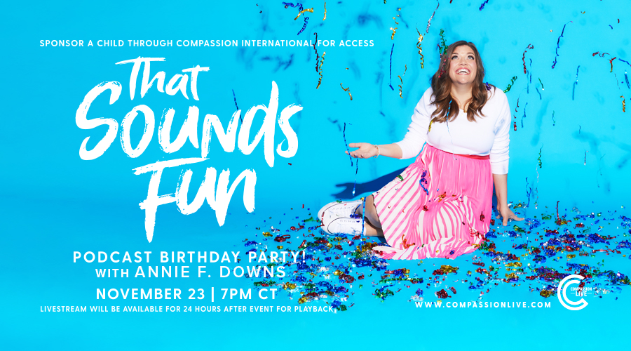 That Sounds Fun Podcast Birthday Party November 23! logo