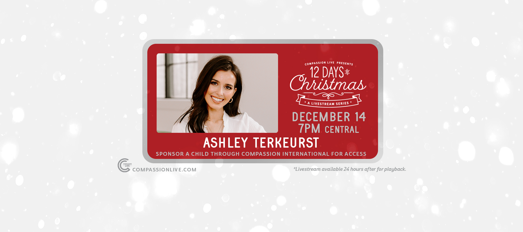 12 Days of Christmas: A Livesteam Series | Ashley TerKeurst (Dec. 14th) logo