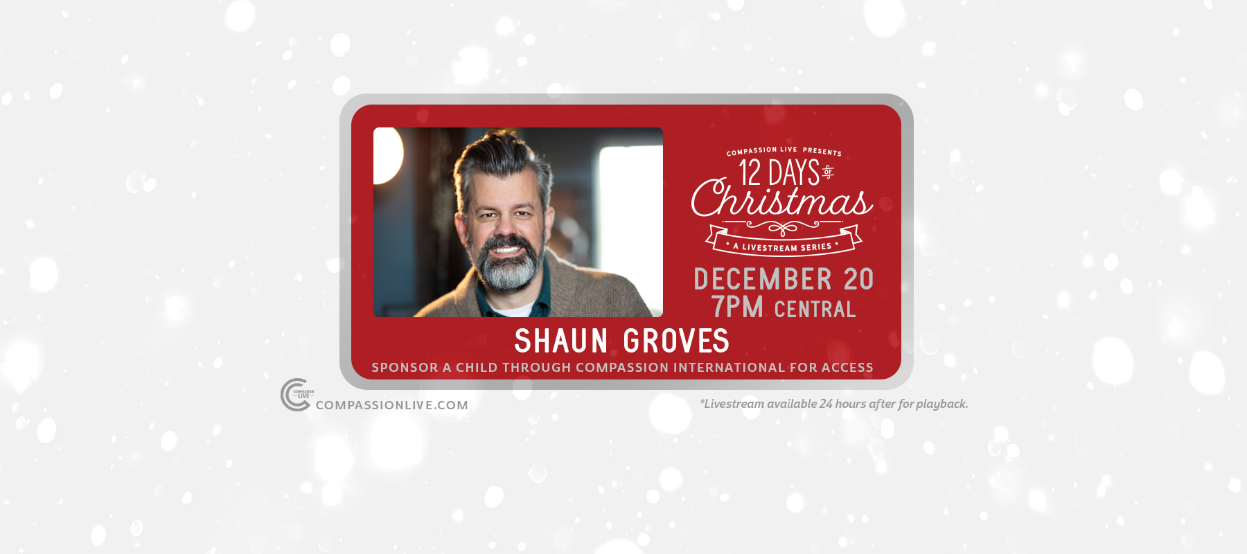 12 Days of Christmas: A Livesteam Series | Shaun Groves (Dec. 20th) logo